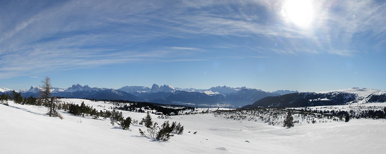 L'Alpe di Villandro in inverno – rigenerazione e panorama montano