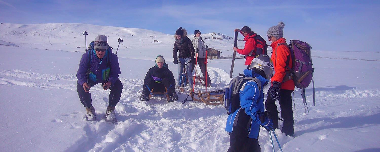 Slittare, sci di fondo, sciare, ciaspolate, escursioni invernali e tanto più – l'Alpe di Villandro