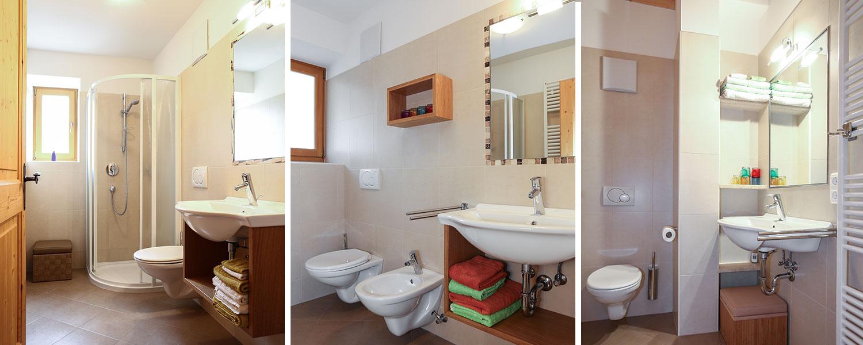 Bad Dusche und WC in unseren Ferienwohnungen
