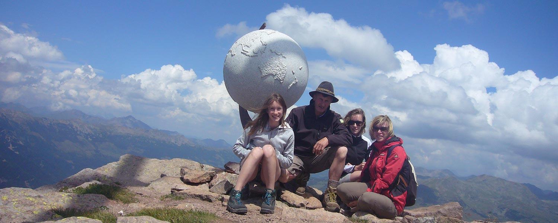 Villanderer Berg - Weltkugel am Gipfel